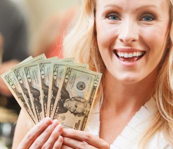 Happy Nurse with Referral Program Money